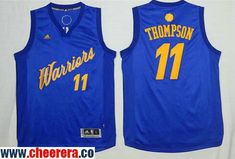 a5fac50da6d Men s Golden State Warriors  11 Klay Thompson Blue Stitched NBA Adidas  Revolution 30 Swingman Jersey
