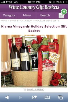 Wine Country Gift basket
