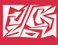 Graffiti inspired F*ck You T-shirt white ink on Red 100% cotton tee #Gildan #BasicTee