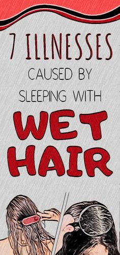 Many of us have the habit of going to bed with wet hair. Health And Fitness Expo, Health And Wellness Quotes, Fitness Workout For Women, Health And Fitness Articles, Fitness App, Healthy Detox, Healthy Juices, Healthy Drinks, Sleeping With Wet Hair