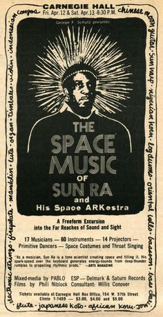 Sun Ra at Carnegie Hall in 1968