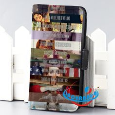 lana del rey collage music movie walet case for iphone 4,4s,5,5s,5c,6 and samsung galaxy s3,s4,s5 - LSNCONECALL.COM