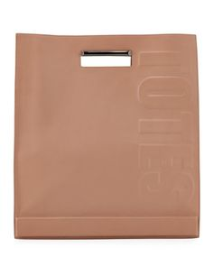 V20E9 3.1 Phillip Lim Totes Amaze Cutout Handle Tote Bag, Nude