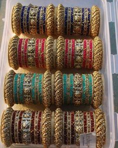 metal bangles indian results - ImageSearch Silk Bangles, Bridal Bangles, Thread Bangles, Thread Jewellery, Bridal Jewelry, Bangle Set, Bangle Bracelets, Silver Bracelets, Silver Rings