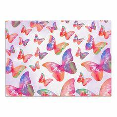 2 x 3 Floor Mat Kess InHouse EBI Emporium Fairy Dust Garden Pink Lavender Mixed Media Decorative Door