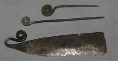 Razor and bronze needles.