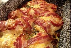 Baconös-paradicsomos csirkemell Meat Recipes, Chicken Recipes, Gm Diet, Hungarian Recipes, Fitness Diet, Dairy Free, Herbalism, Bacon, Good Food