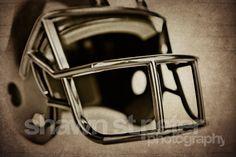 Vintage Football Helmet Black Photo Print by shawnstpeter on Etsy, $20.00