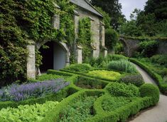 The Herb Garden beside the Great Barn, at Buckland Abbey -- Buckland Abbey
