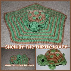 Is a adorable little blanket your kids will love on. You can make the little blanket, the Turtle alone or put them together for a special lovable squishy set. This makes a perfect gift!  $4.50