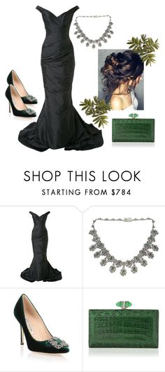 """""""Untitled #433"""" by vintagelady52 ❤ liked on Polyvore featuring Romona Keveža, Manolo Blahnik and Judith Leiber"""