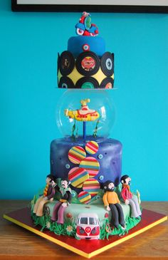60s cake, The Beatles, The Who, Cliff Richard and lots in between! We all live in a yellow submarine, a yellow submarine, a yellow submarine...
