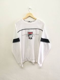 e06e243064f3ae Vintage 90s FILA Big Logo and Spell Out Jumper Sweatshirt Hip Hop Swag  Style Sz L