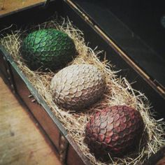 Full Set of Full Size Game of Thrones Dragon Eggs by SurfandSilver