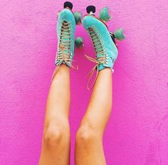 Pink & Turquoise.
