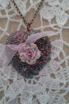 Heart Pendant Necklace  OOAK  One of a kind by BEEBSCLOSET on Etsy