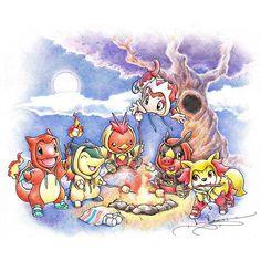 Starter Prints available at ProjectRocket.etsy.com. (Quick link in Bio) #fire #pokémon #crayola #illustration
