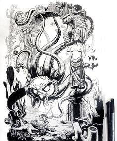 Defender of the Deep - Tee Design by John Sumrow, via Behance