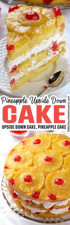 A simple, sweet recipe for pineapple upside-down cake, made with a fluffy from-scratch vanilla cake Coconut Dessert, Bon Dessert, Low Carb Dessert, Just Desserts, Delicious Desserts, Dessert Recipes, Yummy Food, Apple Desserts, Easy Cheap Desserts