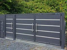House Main Gates Design, Front Gate Design, Door Gate Design, Front Gates, Entrance Gates, Compound Wall Gate Design, Diy Backyard Fence, Garden Gates And Fencing, Stainless Steel Gate