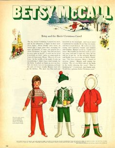 Vintage December 1969 Magazine Paper Doll Betsy McCall and the Birds Christmas Carol