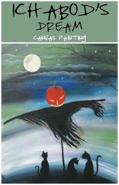 Social Artworking | Ichabod's Dream Canvas Painting Fall Canvas Painting, Canvas Paintings, Canvas Art, Social Artworking, Christian Paintings, Paint And Sip, Paint Party, Autumn Inspiration, Pattern Art