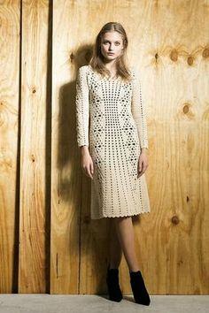 Items similar to Cocktail dress MADE TO ORDER Crochet Dress custom made, hand made, crochet - cotton Vintage Irish Crochet on Etsy Crochet Woman, Knit Or Crochet, Irish Crochet, Crochet Tops, Hand Crochet, Blouse Dress, Knit Dress, Dress Skirt, Tunic Dresses