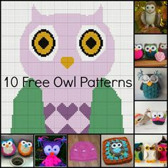 keepingbusy: 10 Free Owl Crochet Patterns