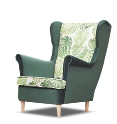 Scandinavian style wing back armchair BRUNO Rest And Relaxation, Single Piece, Scandinavian Style, Armchairs, Natural Wood, Confident, Invites, Accent Chairs, Wings