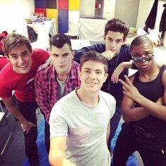 Los chicos antes del show ViolettaLive