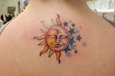 25 Attractive Celestial Tattoos-Slodive within Celestial Tattoo with regard to T. - 25 Attractive Celestial Tattoos-Slodive within Celestial Tattoo with regard to Tattoo Design You are - Star Tattoo Meaning, Moon Star Tattoo, Star Tattoos, Tattoos With Meaning, Body Art Tattoos, Tatoos, Kunst Tattoos, Bild Tattoos, Tattoo Drawings