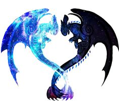 """""""Dragon Heart (Toothless and Light Fury)"""" Photographic Prints by Unicornarama Httyd Dragons, Cute Dragons, Cute Disney Drawings, Cute Animal Drawings, Toothless Dragon, Toothless Tattoo, Night Fury Dragon, Dragon Heart, Wolf Spirit Animal"""
