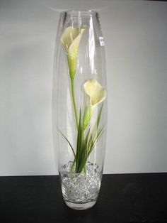arreglo jarrón de cristal