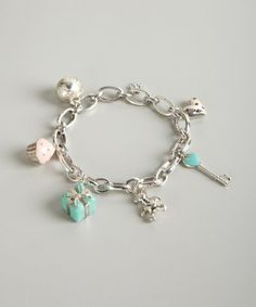 Tiffany Co Silver Diamond And Shire Multi Charm Bracelet