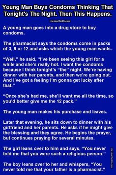 Young Man Buys Condoms Thinking Tonight Is The Night Then This Happens funny jokes story lol funny quote funny quotes funny sayings joke hilarious humor stories funny jokes adult jokes best jokes ever best jokes