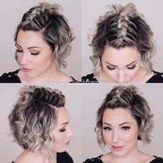 Mohawk Braid Top Knot for Short Hair hair braids 23 Quick and Easy Braids for Short Hair Quick Braids, Braids For Short Hair, Cute Hairstyles For Short Hair, Easy Hairstyles, Short Hair Braids Tutorial, Short Hair Tutorials, Short Braided Hairstyles, Short Hairdos For Wedding, Short Curled Hair