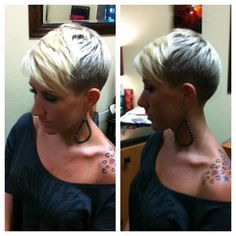 Pixie buzzed sides & back with long front. | Found on web.stagram.com via Tumblr