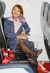 Japanese air stewardesses turning