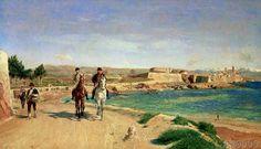 Ernest Meissonier - Antibes, La promenade à cheval, 1868