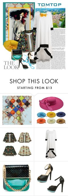"""""""TOMTOP+ 21"""" by carola-corana ❤ liked on Polyvore featuring Grandin Road, Marc Jacobs, Oscar de la Renta, tomtop and tomtopstyle"""