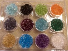 Faceted gemstone bead variety box