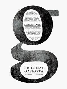 Garamond Type Poster Michael Lashford Creative.