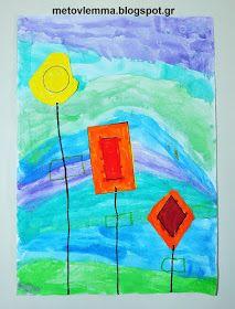 Με το βλέμμα στο νηπιαγωγείο και όχι μόνο....: Τα σχηματολούλουδά μας.Κολάζ και φύλλα εργασίας Kindergarten, Blog, Painting, Painting Art, Kindergartens, Paintings, Preschool, Painted Canvas, Pre K