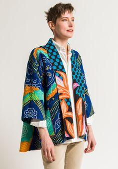 Mieko Mintz Kimono Jacket in Turquoise/Orange jacket Mieko Mintz Kimono Jacket in Turquoise/Orange Iranian Women Fashion, African Fashion, Casual Outfits, Fashion Outfits, Short Kimono, Quirky Fashion, Orange And Turquoise, Kimono Jacket, Kimono Top