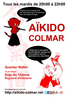l'affiche de la rentrée aikido colmar 2015/2016