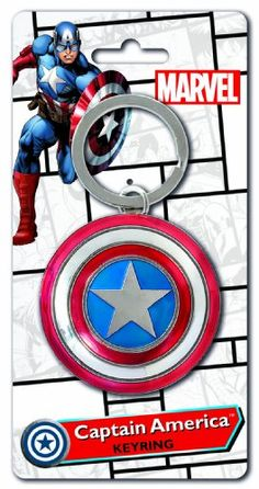 Black Friday Marvel Captain America Shield Pewter Key Ring from Marvel Cyber Monday