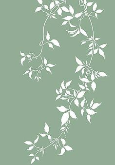 Large Trailing Leaves Stencil Clematis Vines