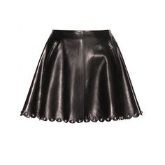 Valentino - Embellished leather miniskirt - Temper the girlish flare with something more form-fitting up top. - @ www.mytheresa.com