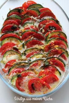 Tomaten-Zucchini-Gratin