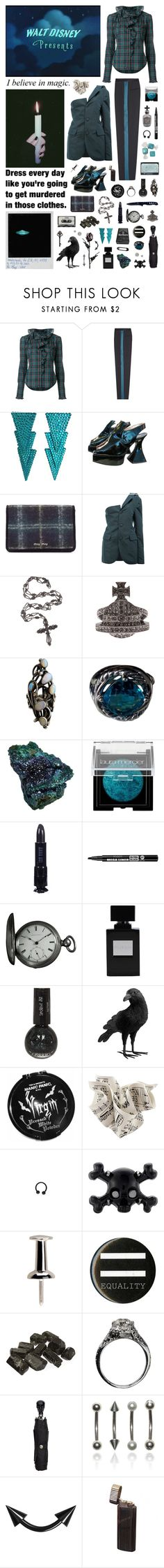 """I wish...I can have more days when I think that my life is a fairytale"" by nothingisnormal ❤ liked on Polyvore featuring Faith Connexion, Roksanda, John Fluevog, Miu Miu, MOOHONG, Vivienne Westwood, David Yurman, Hard Candy, Laura Mercier and Anna Sui"